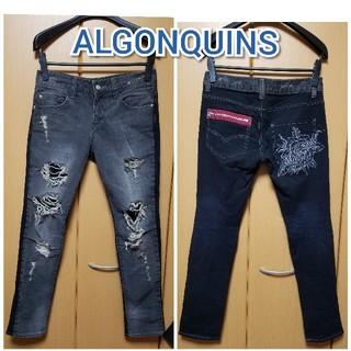 アルゴンキン(ALGONQUINS)のALGONQUINS●ツートンダメージパンツ(デニム/ジーンズ)
