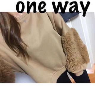 one*way - ワンウェイ♡GYDA系♡プルオーバー♡ファー袖♡スウェットトレーナー♡