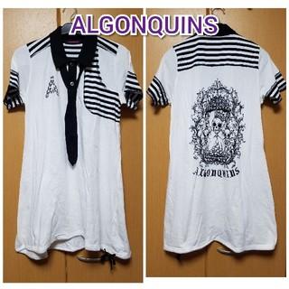 アルゴンキン(ALGONQUINS)のALGONQUINS●カットソーワンピース 今月末までの出品(ひざ丈ワンピース)