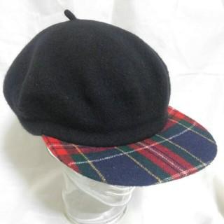 ニューヨークハット(NEW YORK HAT)のNEW YORK HAT ツバ付きベレー帽 デッドストック 90s(ハンチング/ベレー帽)