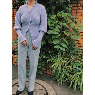 Vintage Armani mohair blue knit