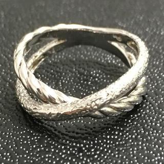 スタージュエリー(STAR JEWELRY)のスタージュエリー k18wg 18金 ピンキーリング 3号 指輪(リング(指輪))