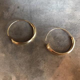 フリークスストア(FREAK'S STORE)の#327 import pierce : bow hoop gold(ピアス(両耳用))
