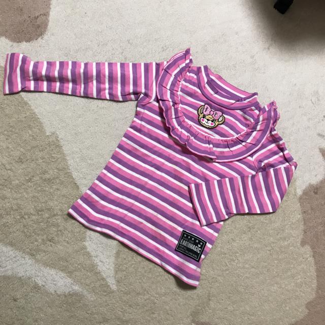 EARTHMAGIC(アースマジック)のボーダーロンT♡専用 キッズ/ベビー/マタニティのキッズ服 女の子用(90cm~)(Tシャツ/カットソー)の商品写真