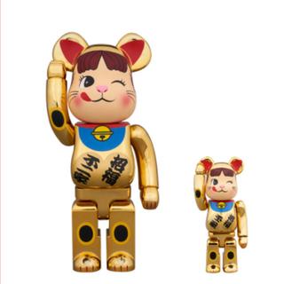 BE@RBRICK 招き猫 ペコちゃん 金メッキ 弐 100%&400%