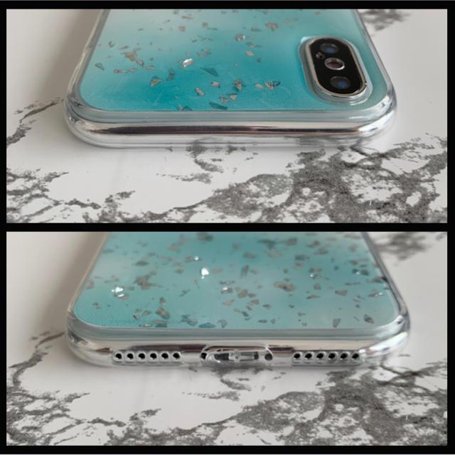 iPhoneX/iPhoneXS専用 ケースカバー ホログラムブルー スマホ/家電/カメラのスマホアクセサリー(iPhoneケース)の商品写真
