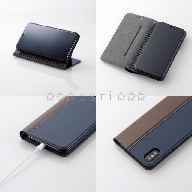 ELECOM(エレコム)のiPhoneX/XS 薄型・軽量 【ブラウン】スマートスタンド機能 手帳型カバー スマホ/家電/カメラのスマホアクセサリー(iPhoneケース)の商品写真