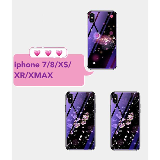 花柄 iphoneケース おしゃれ 光沢 アイフォンケース スマホ/家電/カメラのスマホアクセサリー(iPhoneケース)の商品写真