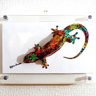 A polychromatic lizard