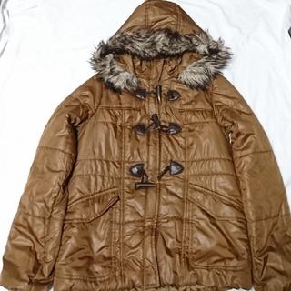ジーユー(GU)の中綿ジャケット ダッフルコート 防寒 アウター(ダッフルコート)