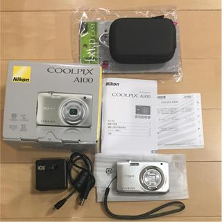 ニコン(Nikon)のNikon  COOLPIX A100  デジカメ  ケース付き(コンパクトデジタルカメラ)
