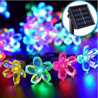 イルミネーション LED ソーラー 防水 クリスマス 飾りつけ ストレート (蛍光灯/電球)
