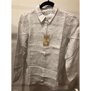 ムジルシリョウヒン(MUJI (無印良品))の無印良品 ストライプシャツ 新品(シャツ/ブラウス(長袖/七分))