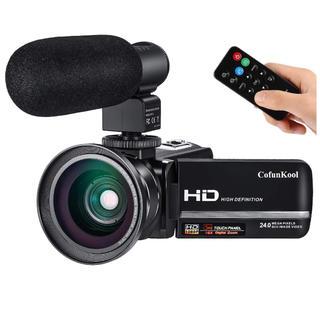 ビデオカメラ FHD1080P 24MP 16倍デジタルズーム(ビデオカメラ)