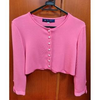 エムズグレイシー(M'S GRACY)の✨エムズグレイシー濃いピンク 上品パールボタンボレロ40号✨(ボレロ)
