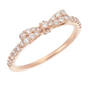 ポンテヴェキオ(PonteVecchio)の♡ポンテヴェキオ K18PGダイヤモンドリング #2 ピンキーリング(リング(指輪))