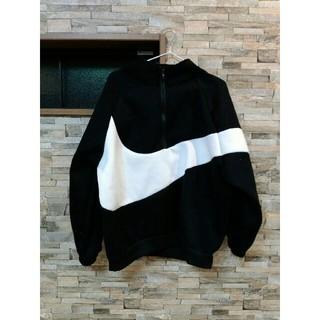 ナイキ(NIKE)の★新品送料込★ NIKE 風 ビッグシルエット ジャケット 白 黒(トレーナー/スウェット)