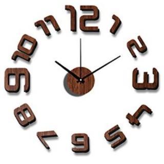 ★即日発送★ 3種類 おしゃれ ウォールクロック DIY ブラウン 他カラー有(掛時計/柱時計)
