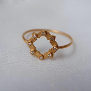 アッシュペーフランス(H.P.FRANCE)の♡Talkative♡K18YGダイヤリング♡H.P.France(リング(指輪))