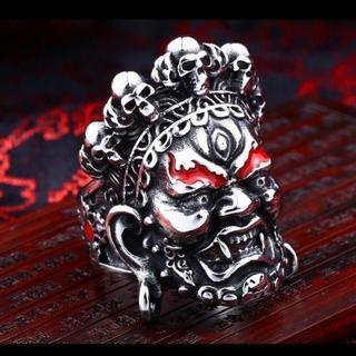 魔人 閻魔大王 顔 ステンレス リング 指輪 25号(リング(指輪))