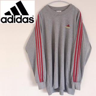 アディダス(adidas)の【美品】アディダス Adidas ロンT 3本線 大きいサイズ L(Tシャツ/カットソー(七分/長袖))