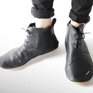 アンティカ(antiqua)のアンティカ 本革ショートブーツ スニーカー(ブーツ)