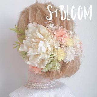 ウェディング  ヘッドドレス 髪飾り 結婚式 成人式 卒業式 お呼ばれ(ヘッドドレス/ドレス)