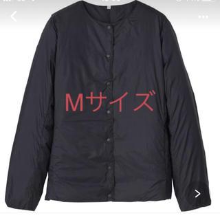 ムジルシリョウヒン(MUJI (無印良品))の無印ノーカラーブルゾン 黒色Mサイズ新品(ブルゾン)