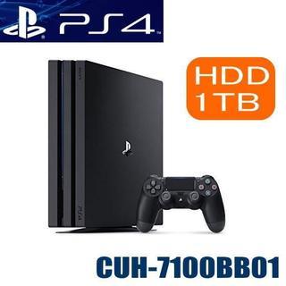 プレイステーション4(PlayStation4)の新品 PlayStation4 Pro ジェット・ブラック 1TB(家庭用ゲーム本体)