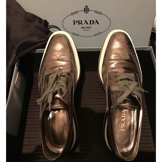 プラダ(PRADA)の正規品PRADAレースシューズ(ローファー/革靴)