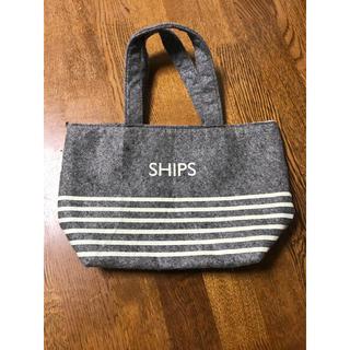 シップス(SHIPS)のships トートバッグ 冬 グレー(トートバッグ)