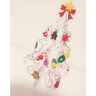 スリーコインズ(3COINS)のスリーコインズ クリスマスツリー 木製 ホワイト(インテリア雑貨)
