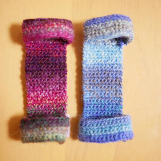 三味線 指すり 2個セット 濃い紫、青グラデ
