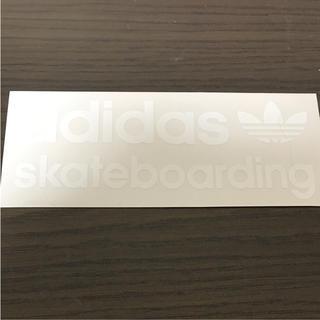 アディダス(adidas)の【縦6.7cm横16.5cm】 adidas skateboardステッカー(ステッカー)
