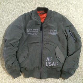 アヴィレックス(AVIREX)のAVIREX上野商会製 MA-1 USAF リバーシブル セージ メンズ M(フライトジャケット)