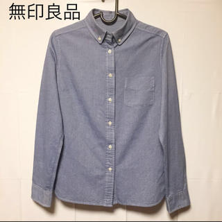 MUJI (無印良品) - 【無印良品】MUJI 美品 ボタンダウンシャツ ブルー
