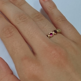 しろさま専用k18マルチカラー フルエタニティリング(リング(指輪))