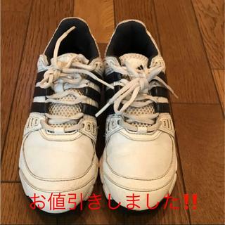 アディダス(adidas)のアディダス ジュニアゴルフシューズ ホワイト22センチ(シューズ)