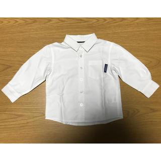 ニシマツヤ(西松屋)の白シャツ 90cm(ブラウス)