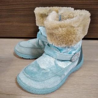 アナトユキノジョオウ(アナと雪の女王)のブーツ☆アナ雪☆18.0☆双子ちゃんにも(ブーツ)