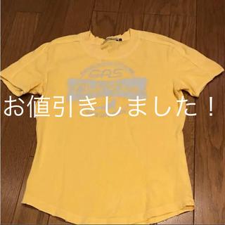ガス(GAS)のGAS Tシャツ イエロー Sサイズ 美品(Tシャツ(半袖/袖なし))