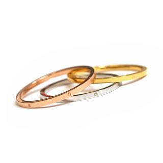 サージカルステンレステンレス 1㎜ ピンキーリング(リング(指輪))