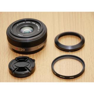 パナソニック(Panasonic)の【メタルフード付】PANASONIC LUMIX G 20mm / F1.7 (レンズ(単焦点))