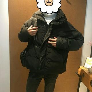ザラ(ZARA)のZARAザラメンズ防寒対策ブラックショットジャケット (ピーコート)