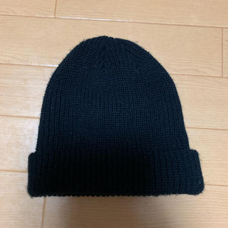 ジーユー(GU)の早い者勝ち!GU ニット帽 ブラック(ニット帽/ビーニー)