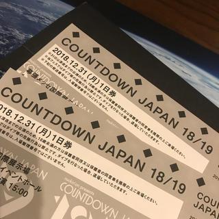 カウントダウンジャパン 31日 ペアチケット(音楽フェス)