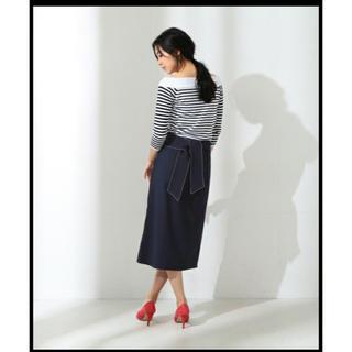 デミルクスビームス(Demi-Luxe BEAMS)のdemi-Luxe BEAMSデミルクスビームスカシュクールバックリボンスカート(ひざ丈スカート)