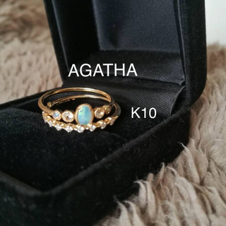 アガタ(AGATHA)のAGATHA ダイヤ ハーフエタニティリング  K10 (リング(指輪))