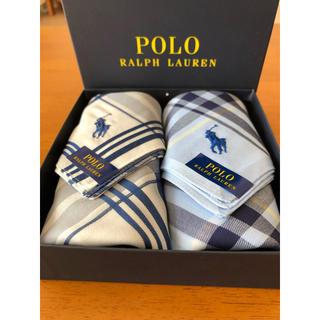 ポロラルフローレン(POLO RALPH LAUREN)のハンカチ 2枚組 紳士用(ハンカチ/ポケットチーフ)