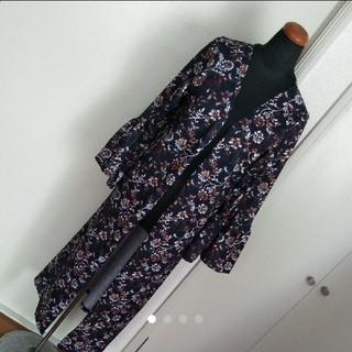 しまむら - しまむら Mサイズ 花柄ロングカーディガン フレア袖